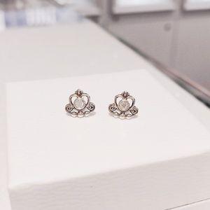Pandora My Princess Tiara Stud Earrings 290540cz